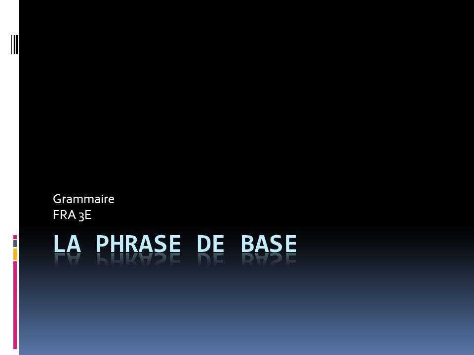 Grammaire FRA 3E