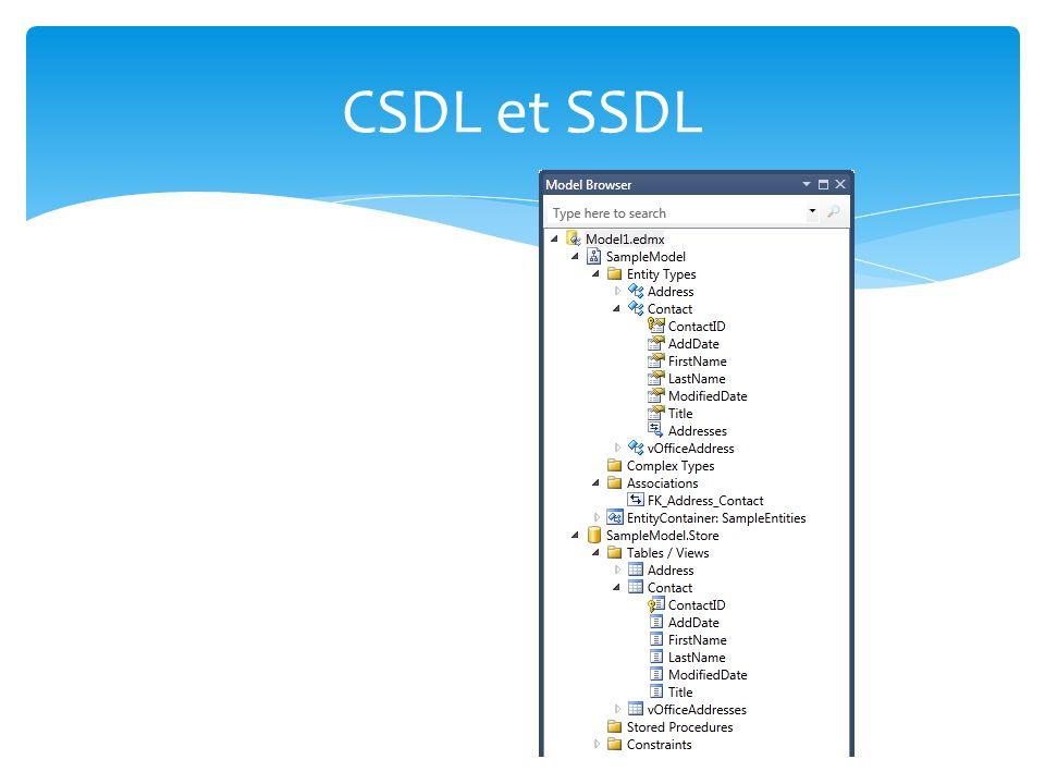 CSDL et SSDL