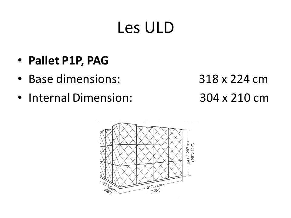 Les ULD Pallet P6P, PMC Base dimensions: 318 x 244 cm Internal Dimension: 304 x 210 cm