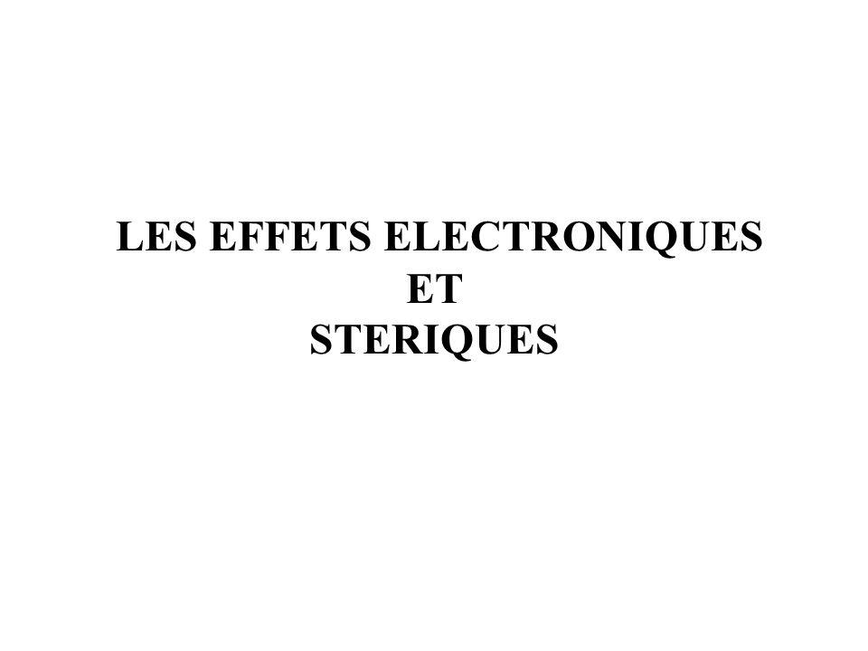 LES EFFETS ELECTRONIQUES ET STERIQUES