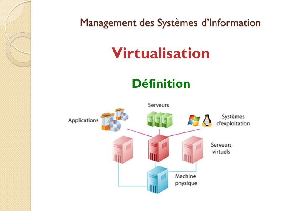 Management des Systèmes dInformation Virtualisation Définition