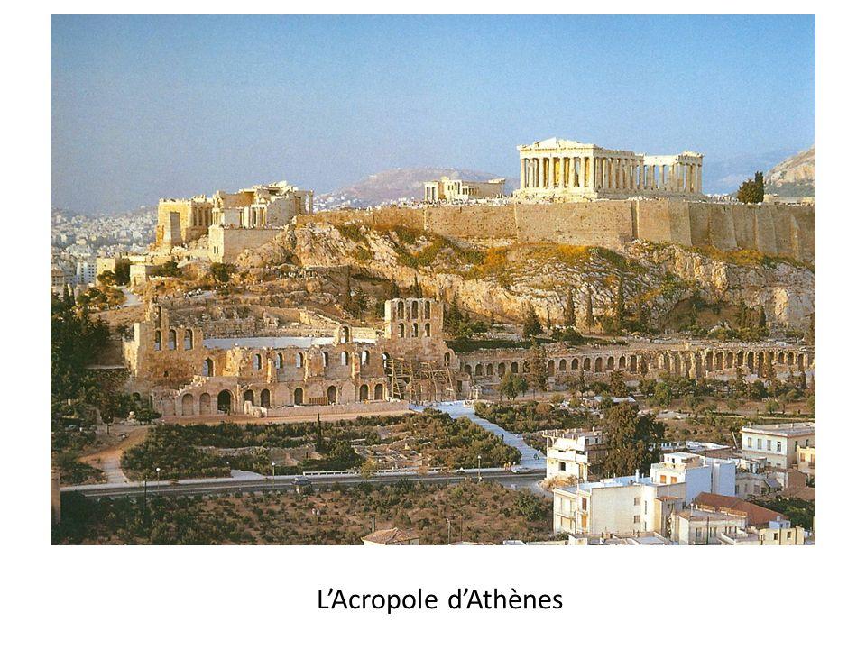 LExemple le plus connu de temple dorique: Le Parthénon, lAcropole dAthènes, Vème siècle avant J.C.