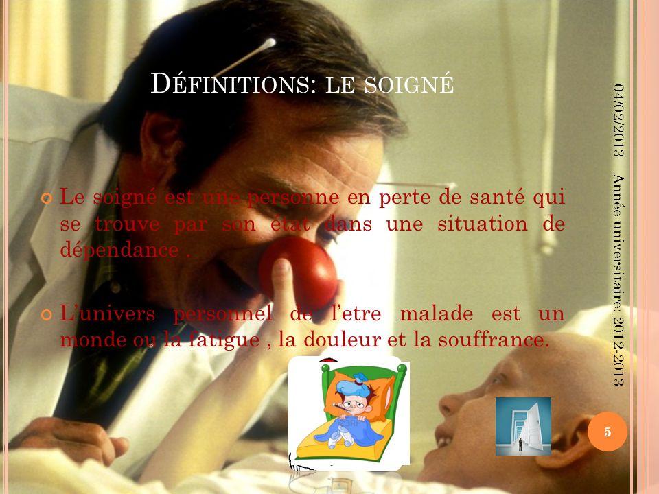 L A RELATION SOIGNANT - SOIGNÉ (1) La relation soignant-soigné passe par trois phases : Relation « parent-enfant » : Le soignant est actif, le soigné est passif.