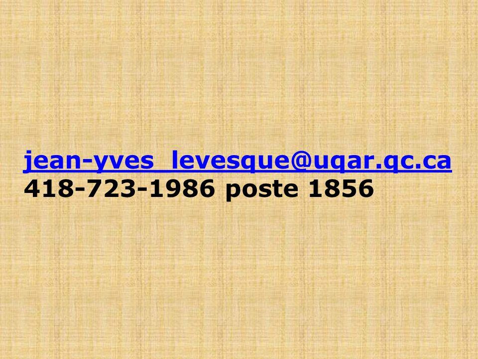 jean-yves_levesque@uqar.qc.ca 418-723-1986 poste 1856