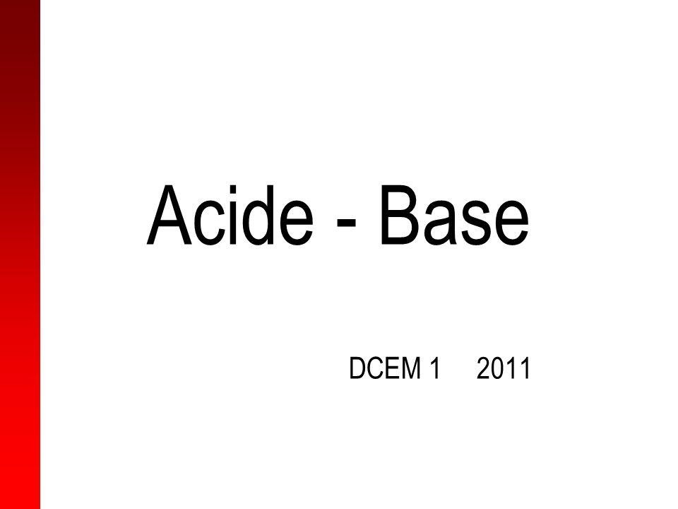 Acide Ac fort + sel basique sel neutre + ac faible Tampons extra-cellulaires