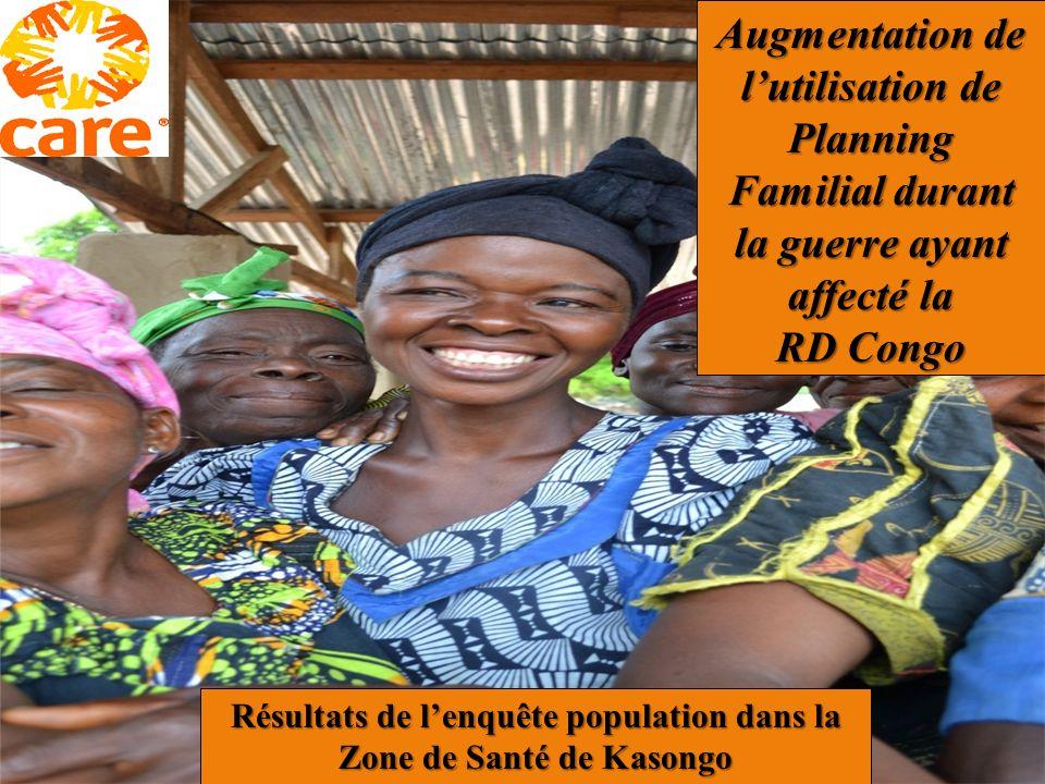 Augmentation de lutilisation de Planning Familial durant la guerre ayant affecté la RD Congo Résultats de lenquête population dans la Zone de Santé de