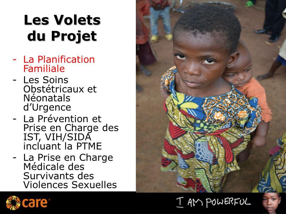 Les Volets du Projet -La Planification Familiale -Les Soins Obstétricaux et Néonatals dUrgence -La Prévention et Prise en Charge des IST, VIH/SIDA inc