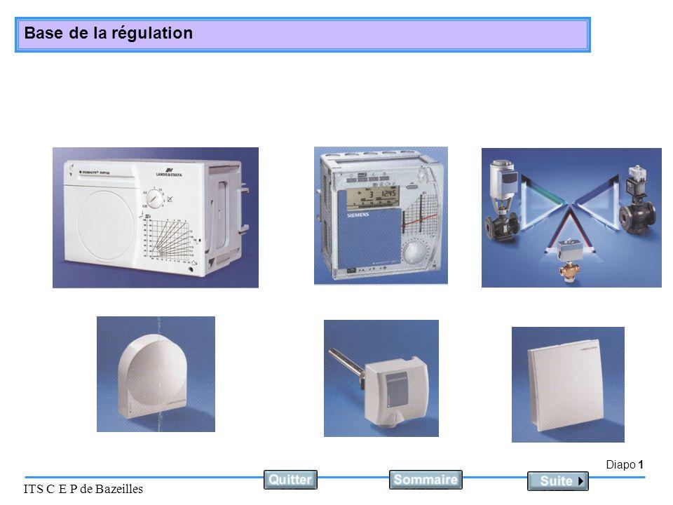 Diapo 1 ITS C E P de Bazeilles Base de la régulation