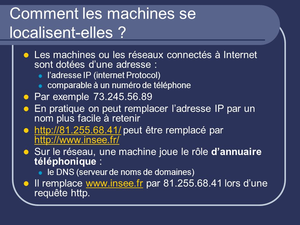Comment les machines se localisent-elles .