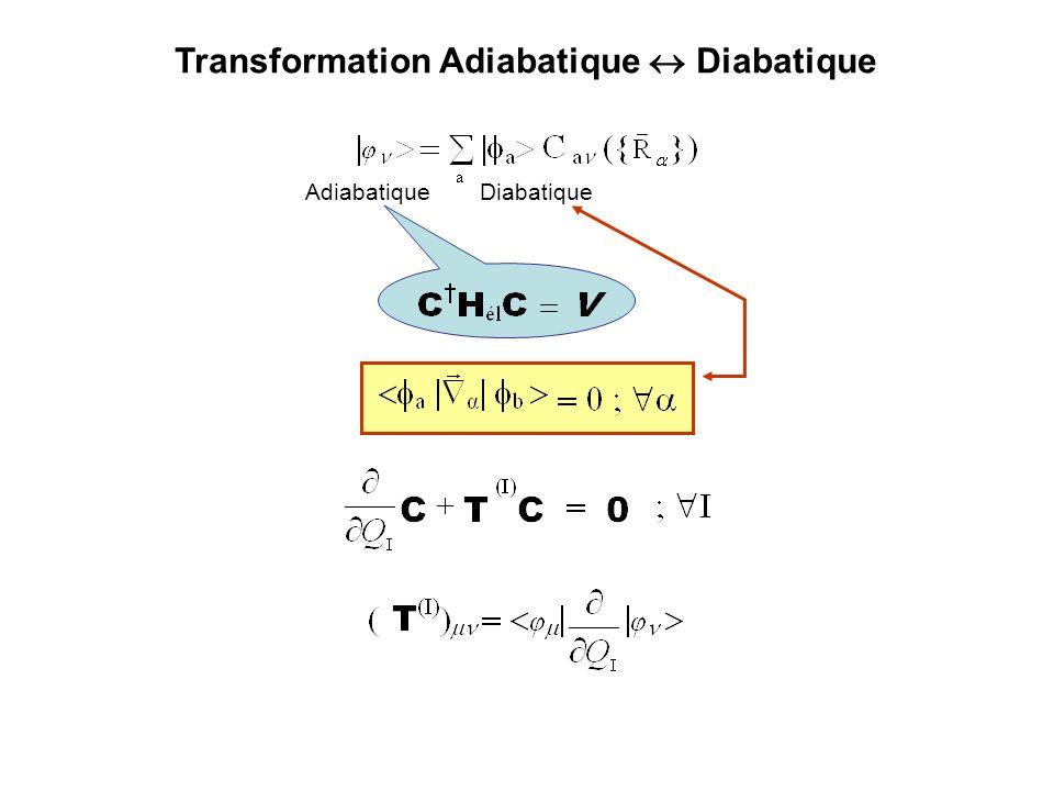 2 états Adiabatique Diabatique