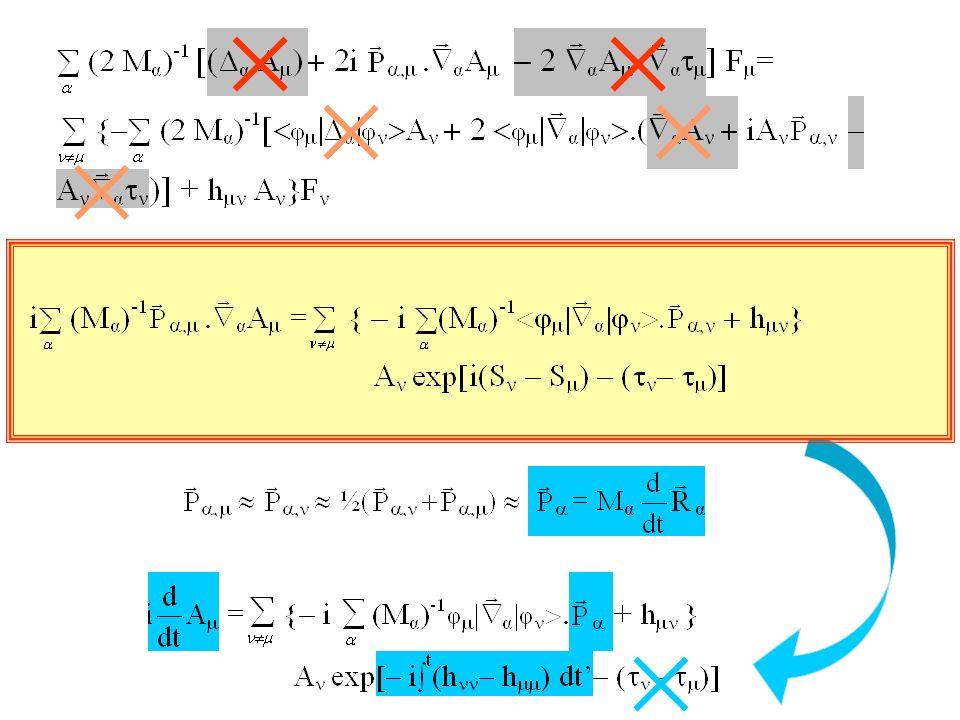 recouvrement Plusieurs trajectoires Léquation « connecte » les trajectoires arrivant/partant dans une zone { } où les recouvrements sont non-négligeables