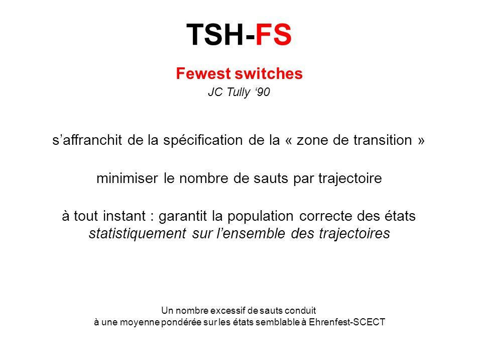 N (t) = (t) N (t) = a *(t) a (t) N (t + t) = (t + t) N Supposons : N (t + t) < N (t) N = N (t) N (t + t) > 0 N sauts de à tout autre état 0 sauts de tout autre état à Fewest switches