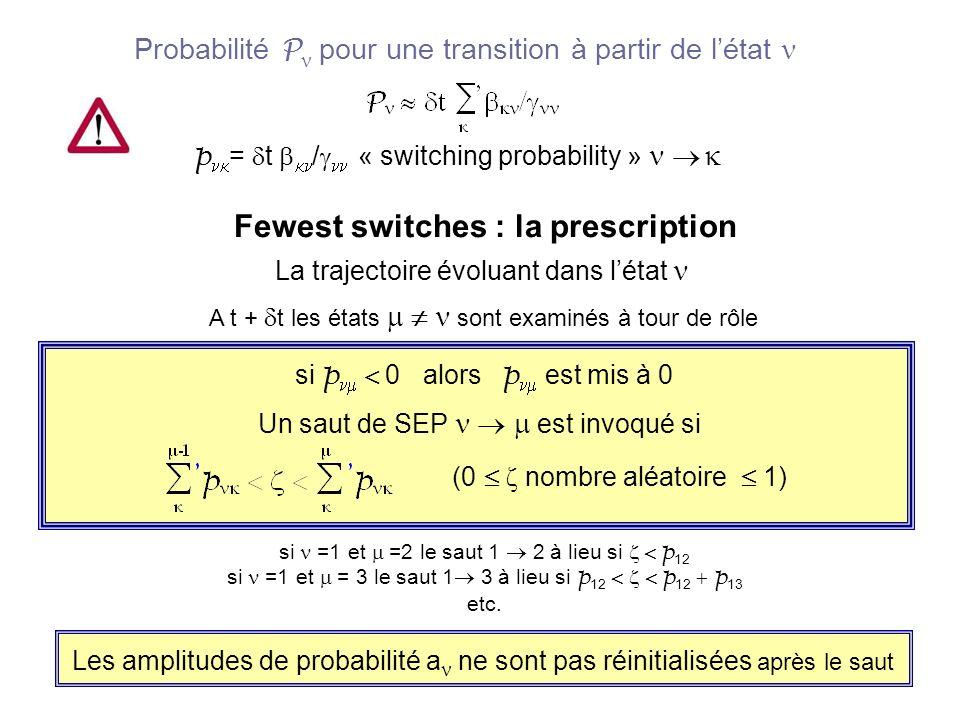 Statistique sur les trajectoires Pour chaque condition initiale il faut un ensemble de trajectoires Afin de simuler les probabilités de transition