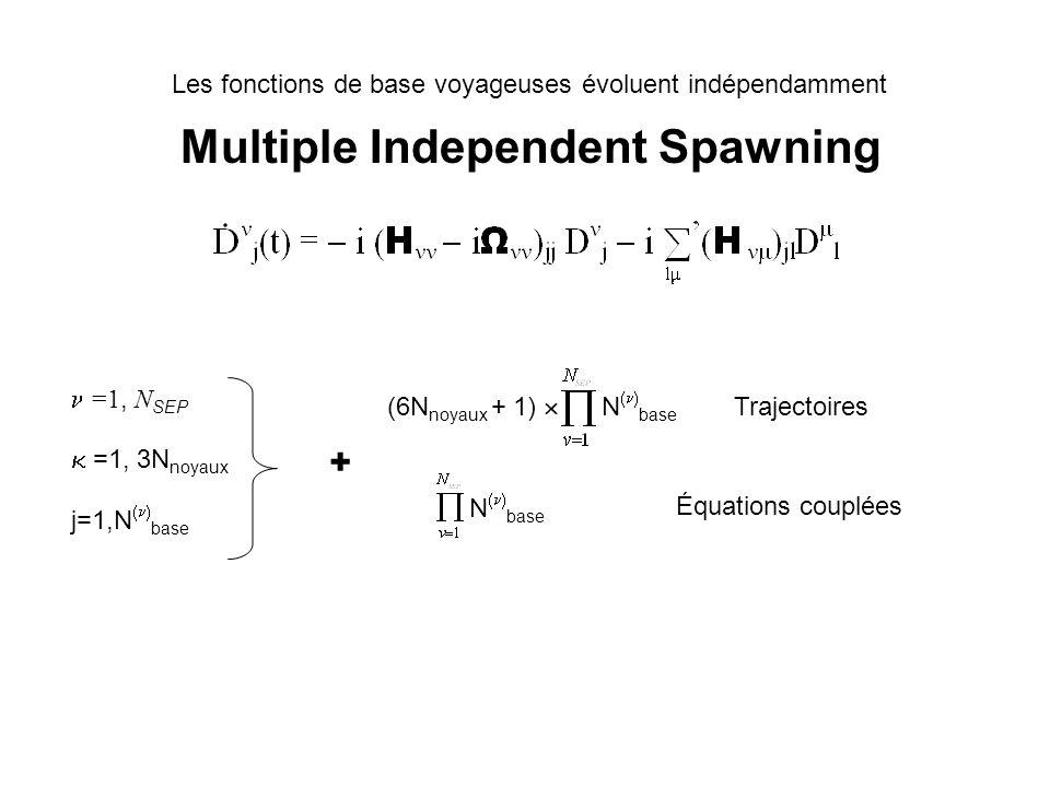 A novel algorithm for non-adiabatic direct dynamics using variational Gaussian wavepackets Worth, Robb &Burghardt 04 Lalgorithme est basé sur la méthode MCTDH de propagation de paquets dondes.