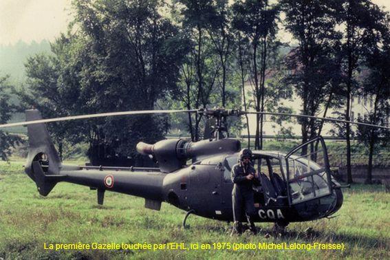 La première Gazelle touchée par l'EHL, ici en 1975 (photo Michel Lelong-Fraisse).