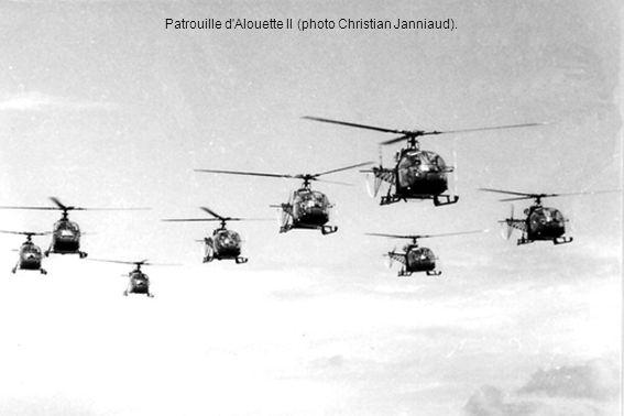 Patrouille d'Alouette II (photo Christian Janniaud).