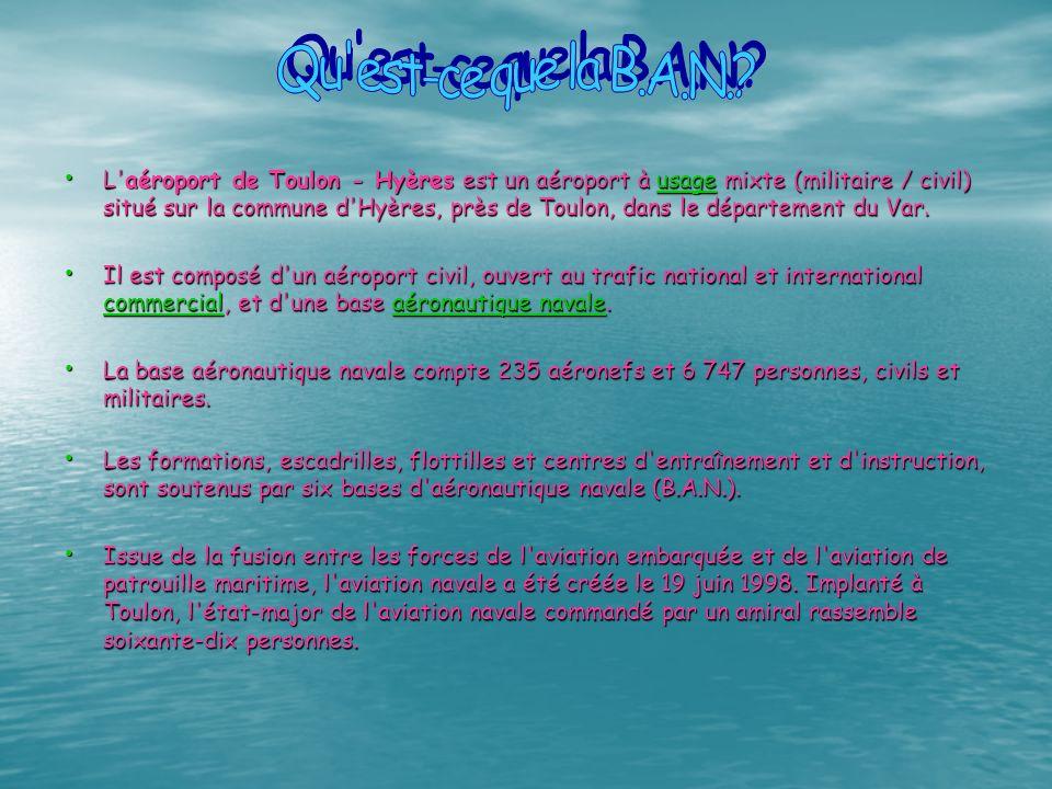 L'aéroport de Toulon - Hyères est un aéroport à u u u u u ssss aaaa gggg eeee mixte (militaire / civil) situé sur la commune d'Hyères, près de Toulon,