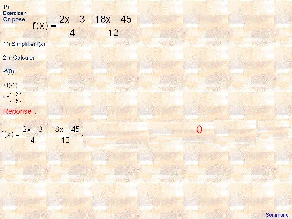 2°) a) b) c) Réponse : Sommaire