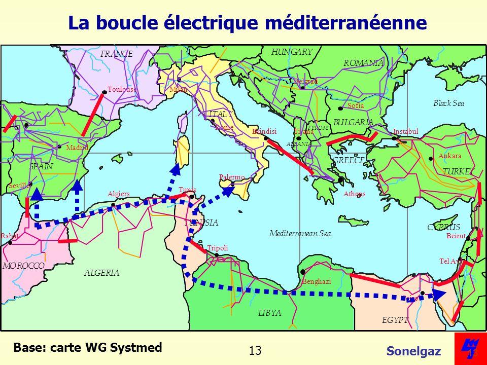 Sonelgaz 13 Base: carte WG Systmed La boucle électrique méditerranéenne