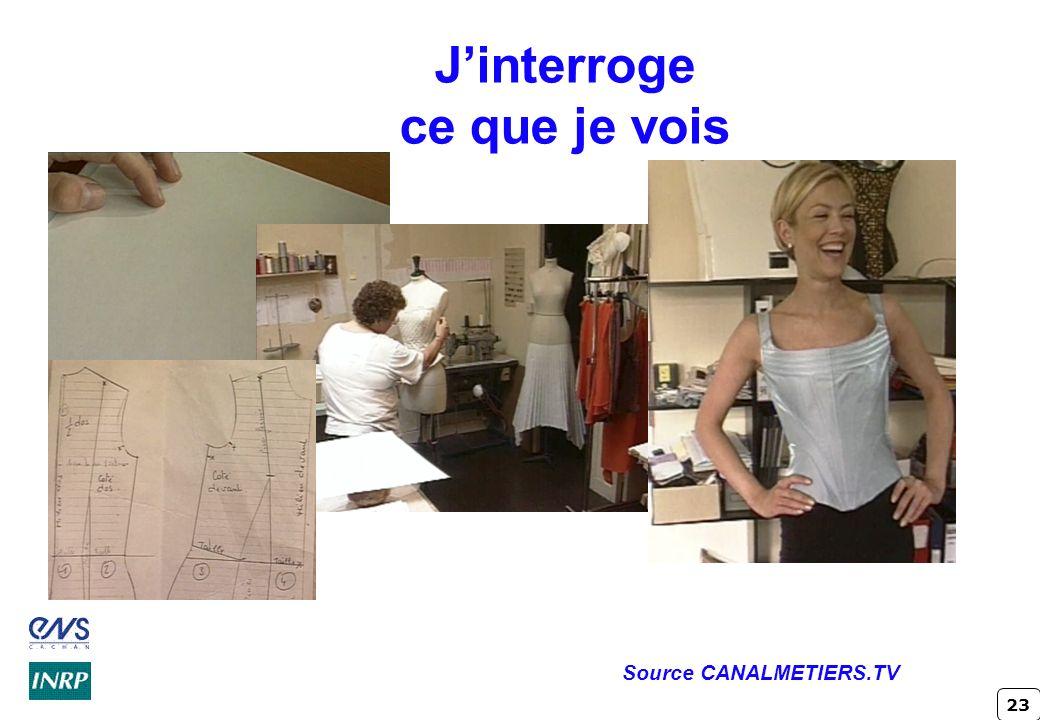 23 Jinterroge ce que je vois Source CANALMETIERS.TV