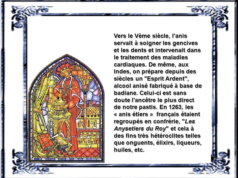 Certains écrits de l'empire babylonien laissent penser que l'anis était déjà utilisé dans diverses préparations médicamenteuses. De plus, les Grecs et