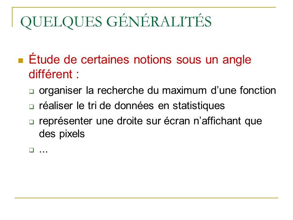 DOCUMENT RESSOURCE eduscol.education.fr/ D0015 Mathématiques Lycée Ressources pour la classe de seconde - Algorithmique - Ce document peut être utilisé librement dans le cadre des enseignements et de la formation des enseignants.