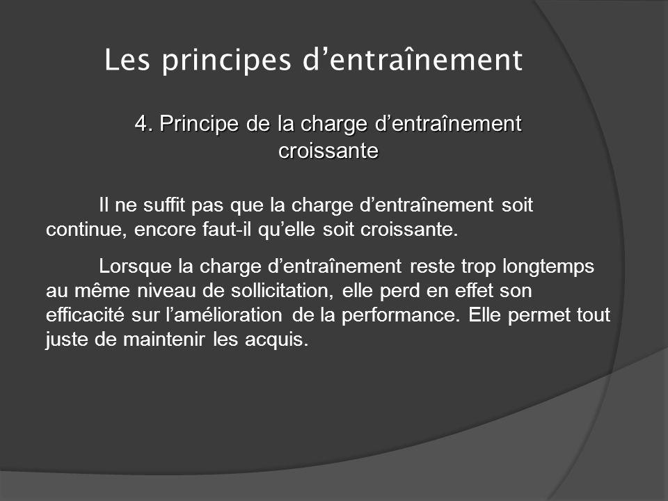 Les principes dentraînement 3. Principe de récupération Un cas particulier = la supersurcompensation Il est possible de planifier des entraînements en