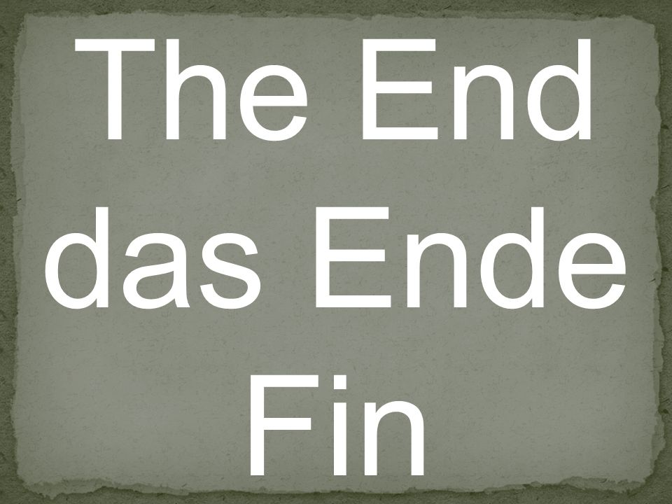 The End das Ende Fin