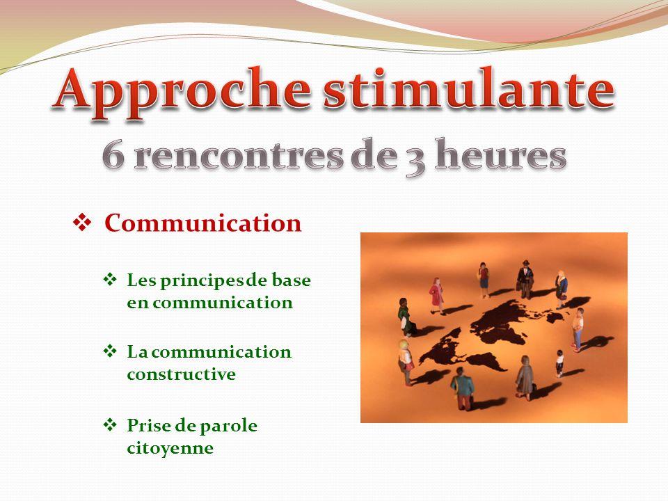 Communication Les principes de base en communication La communication constructive Prise de parole citoyenne