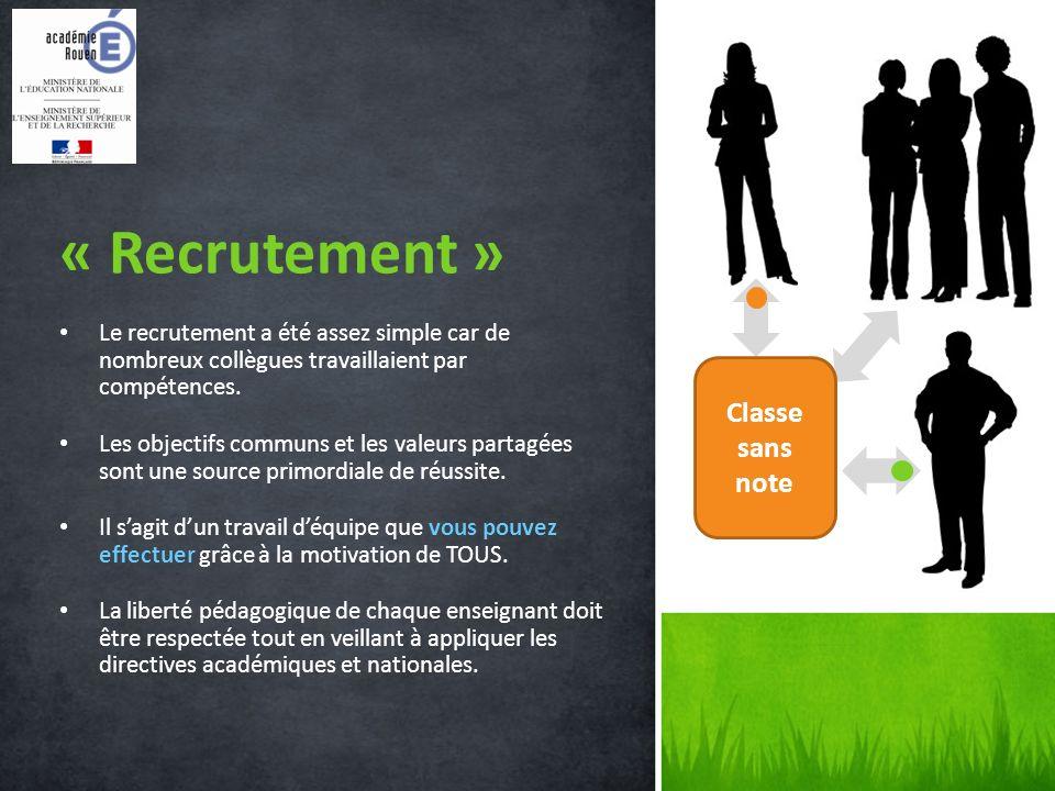 Le recrutement a été assez simple car de nombreux collègues travaillaient par compétences.