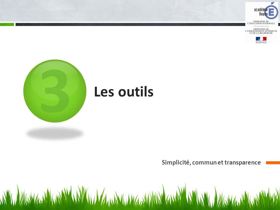 3 Les outils Simplicité, commun et transparence