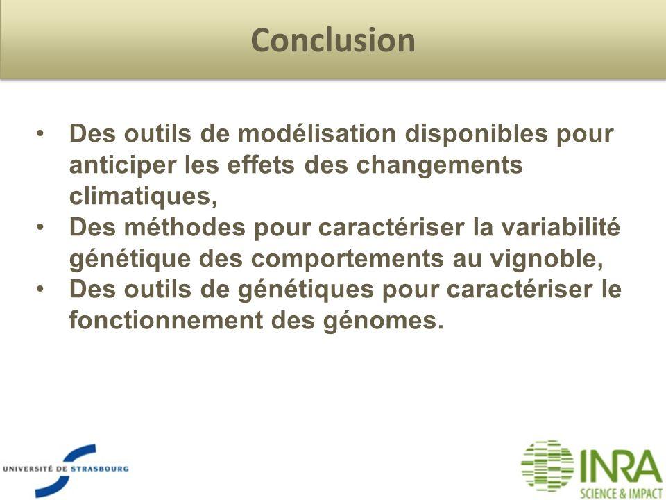 Conclusion Des outils de modélisation disponibles pour anticiper les effets des changements climatiques, Des méthodes pour caractériser la variabilité