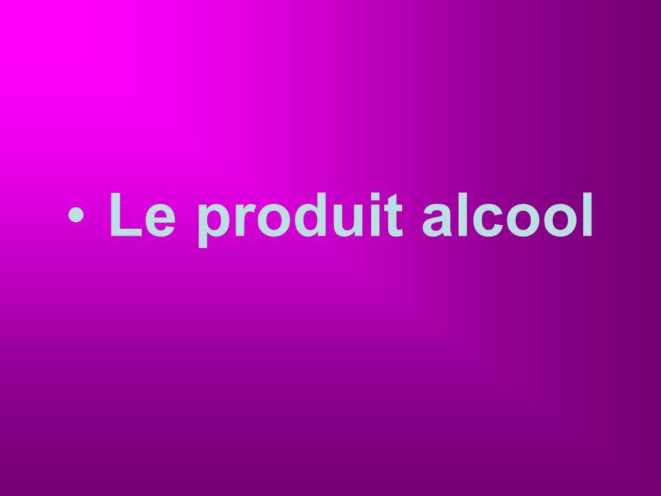 Le produit alcool