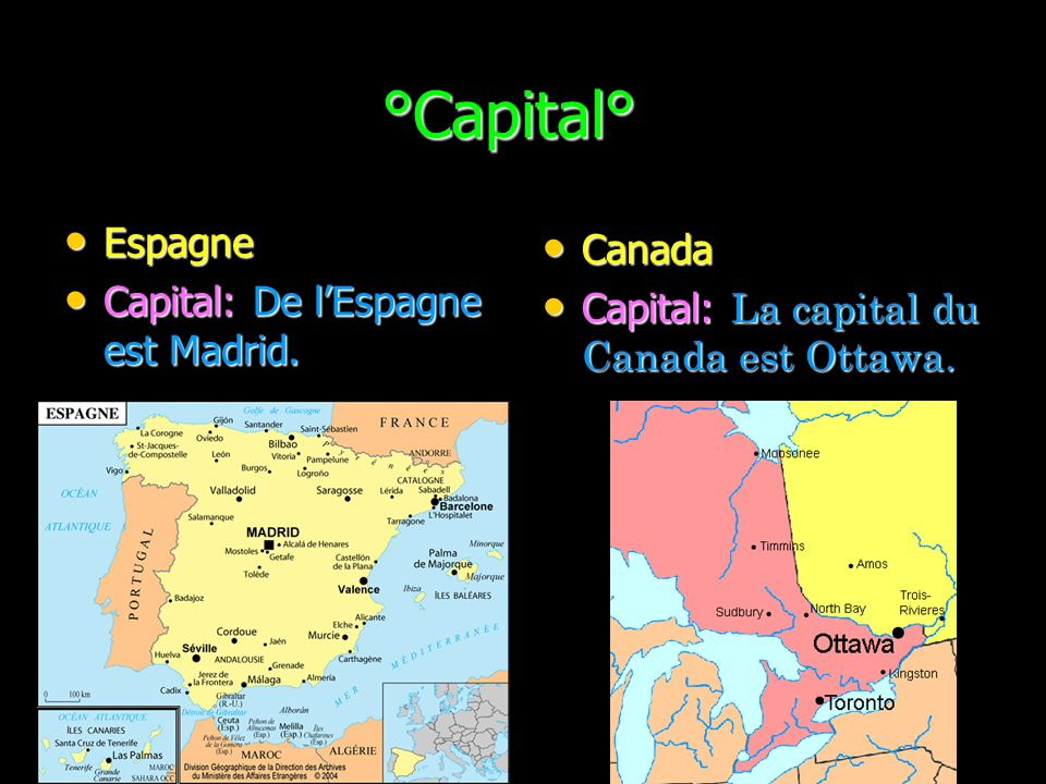 °Capital° °Capital° Espagne Espagne Capital: De lEspagne est Madrid.