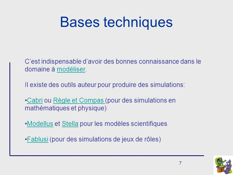 8 Quelques Liens http://telelearning-pds.org/copains/index.html.