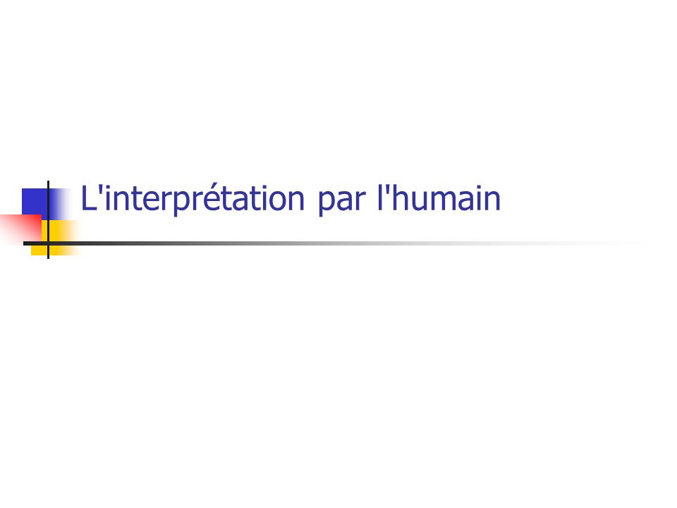 L interprétation par l humain
