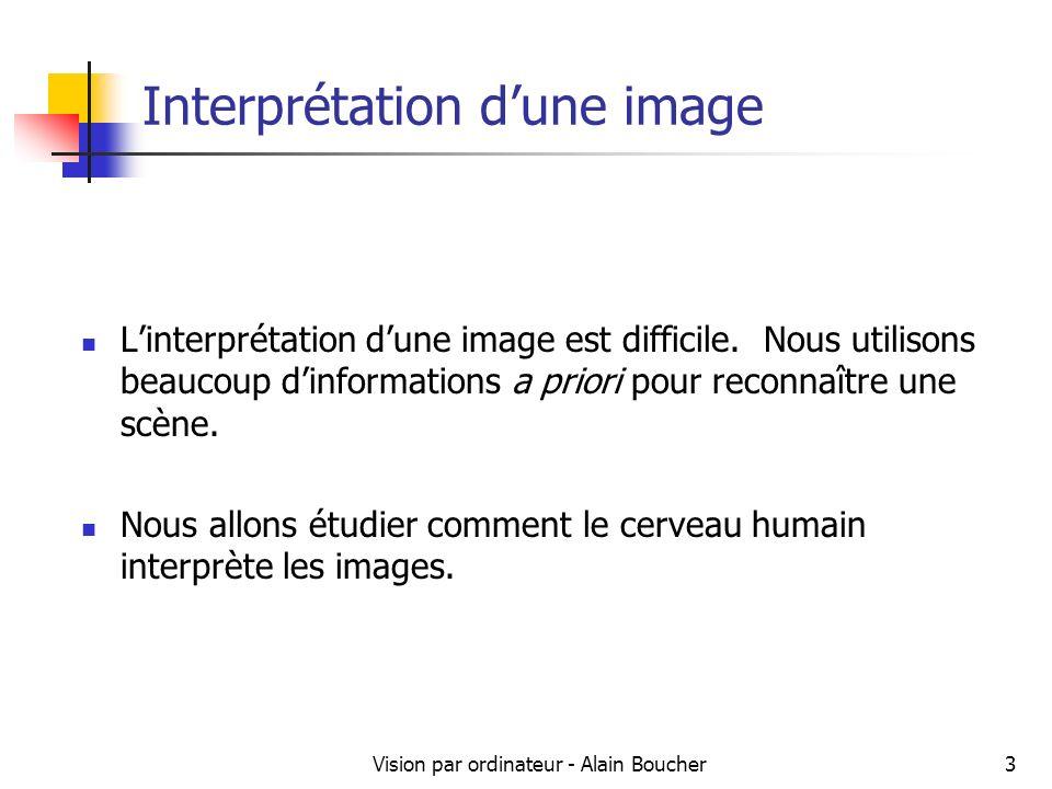 Vision par ordinateur - Alain Boucher14 Exemple de regroupement (Gestalt)
