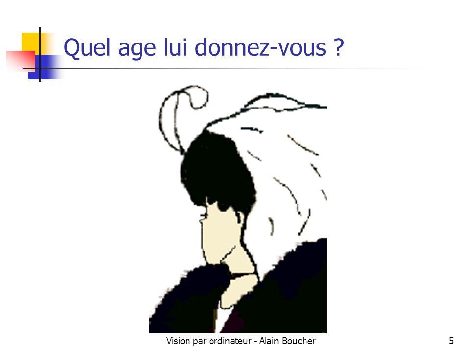 Vision par ordinateur - Alain Boucher5 Quel age lui donnez-vous ?