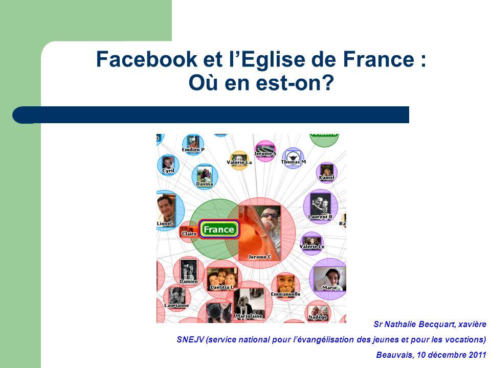 Facebook et lEglise de France : Où en est-on? Sr Nathalie Becquart, xavière SNEJV (service national pour lévangélisation des jeunes et pour les vocati
