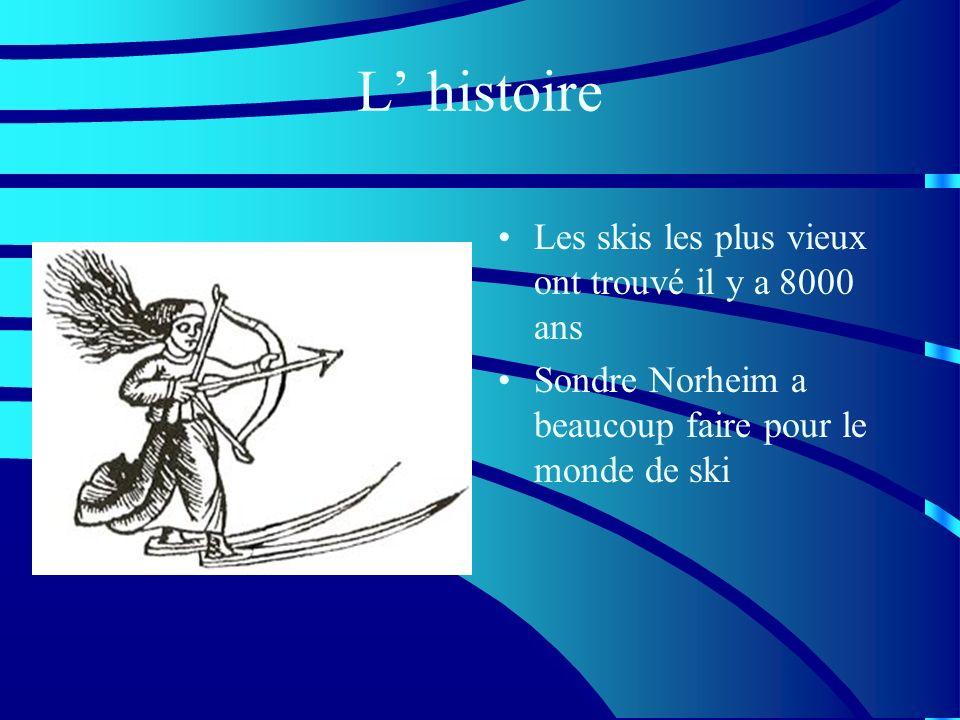 L histoire Les skis les plus vieux ont trouvé il y a 8000 ans Sondre Norheim a beaucoup faire pour le monde de ski