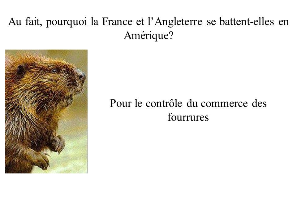 Au fait, pourquoi la France et lAngleterre se battent-elles en Amérique.