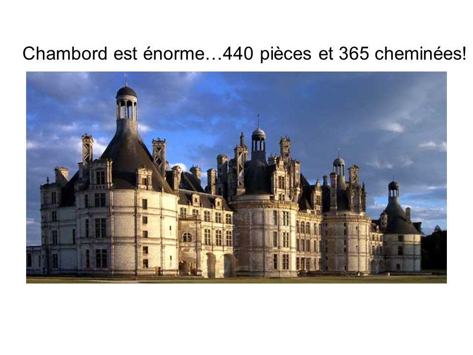 Chambord est énorme…440 pièces et 365 cheminées!