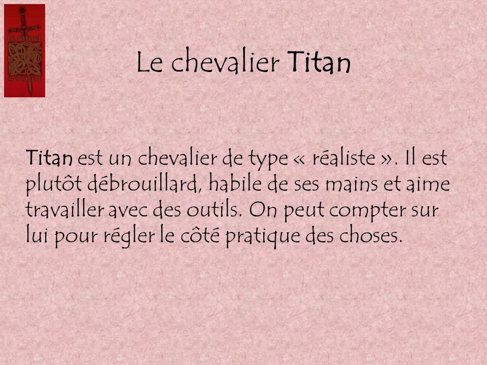 Le chevalier Titan Titan est un chevalier de type « réaliste ». Il est plutôt débrouillard, habile de ses mains et aime travailler avec des outils. On