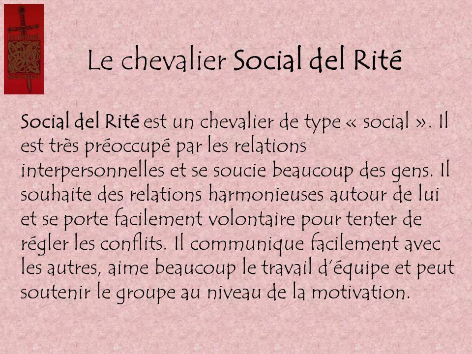 Le chevalier Social del Rité Social del Rité est un chevalier de type « social ». Il est très préoccupé par les relations interpersonnelles et se souc