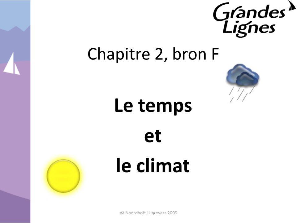 Chapitre 2, bron F Le temps et le climat © Noordhoff Uitgevers 2009