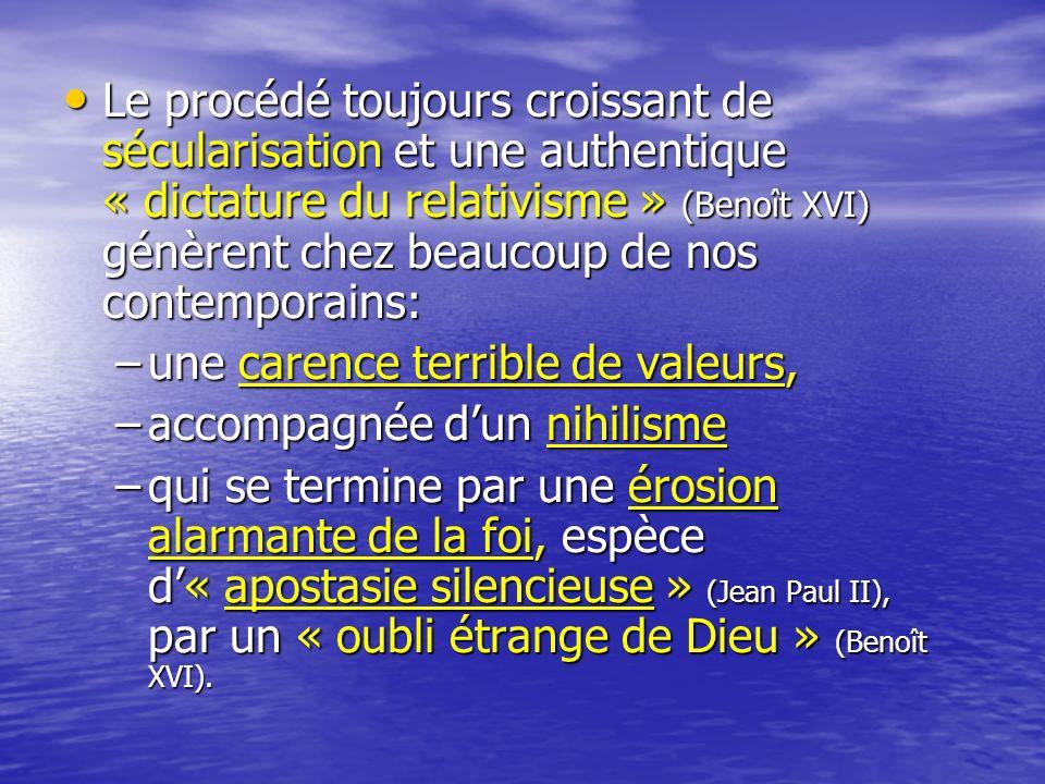 A cette situation, quon constate avec tristesse dans les pays de tradition chrétienne ancienne, il faut opposer, si lon peut dire, un « boom religieux » ambivalent et ambigu.
