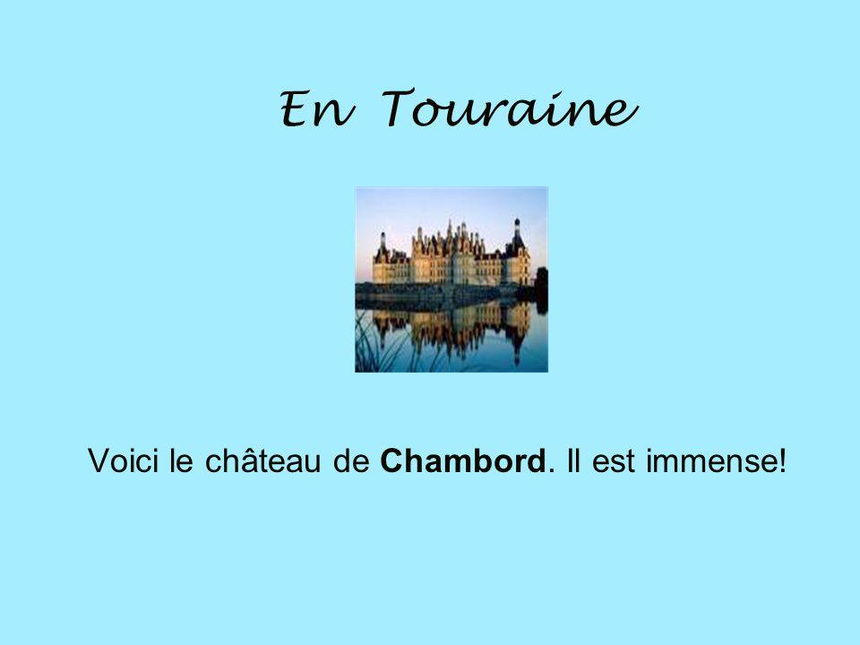 En Touraine Voici le château de Chambord. Il est immense!