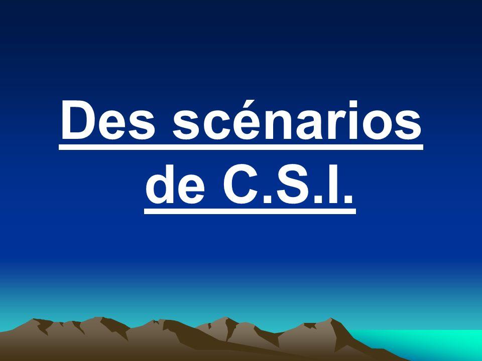Des scénarios de C.S.I.
