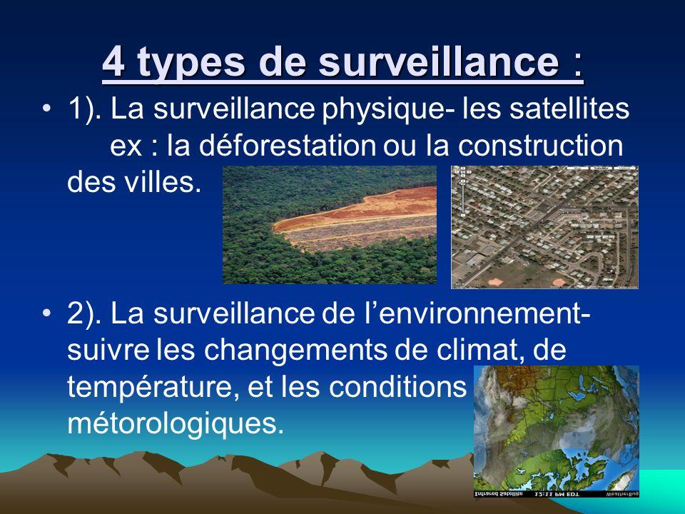 4 types de surveillance : 1).