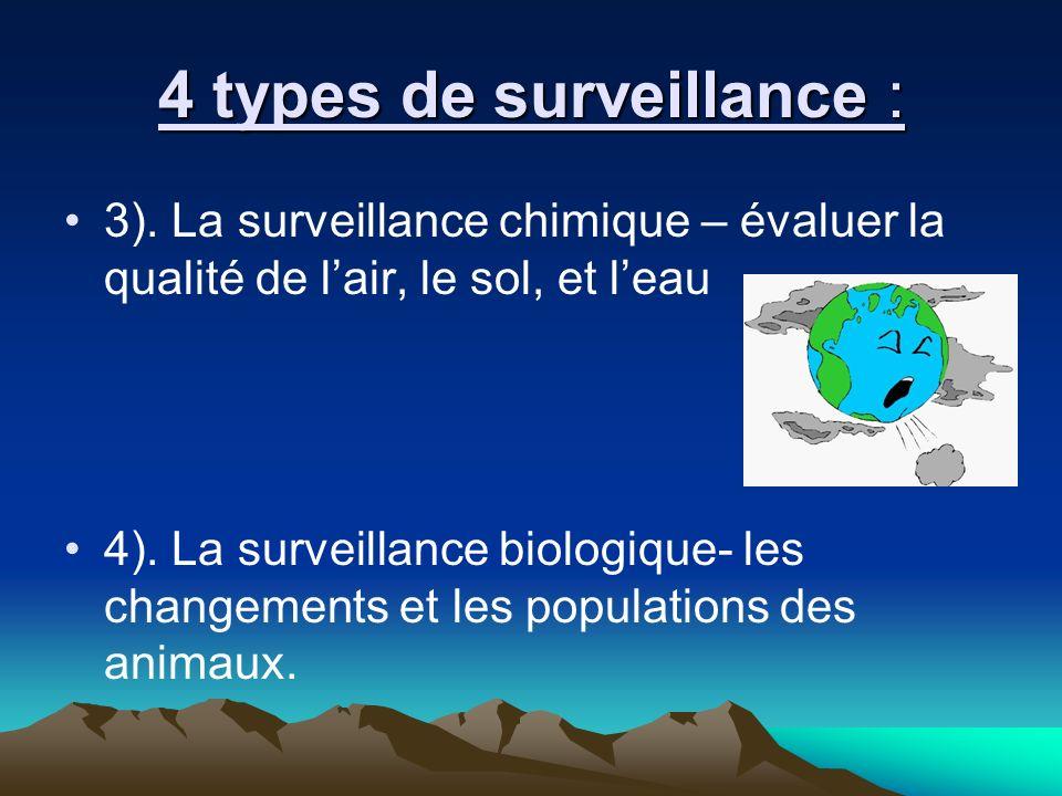 4 types de surveillance : 3).